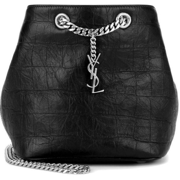 yves saint laurent looks - Saint Laurent Embossed Leather Bucket Bag (\u20ac1.090) ? liked on ...