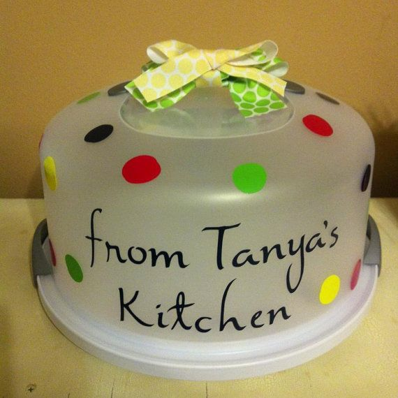 Personalized Cake Carrier by GiftsBySunshine on Etsy, $22.00