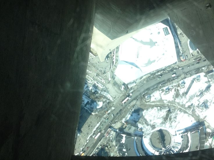 CN tower!! Glass floor