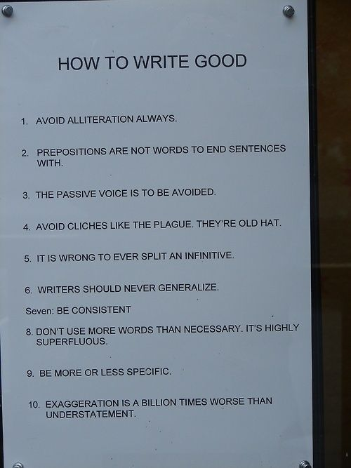 'How to write good', perfect card for the English major in the family.