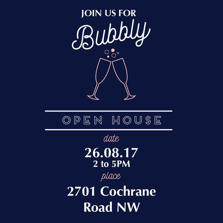 Champagne party | Luxury real estate design | Postcard design | Social media marketing