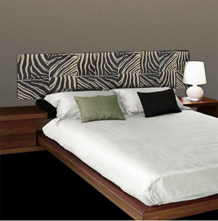 Ideas originales cabecero de cama forrado con papel - Cabeceros papel pintado ...