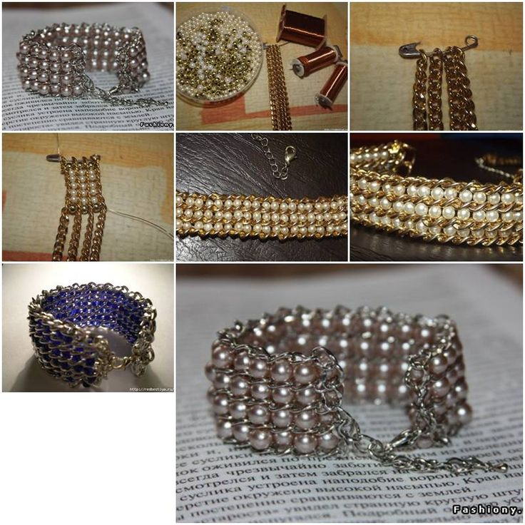How To Make pretty jewelry like Beads and Chains wrist band Bracelet step by step DIY tutorial instructions, How to, how to do, diy instructions, crafts, do it yourself, diy website, art project ideas
