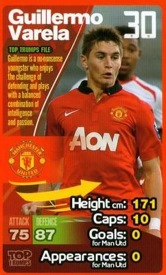 2013-14 Top Trumps Manchester United #NNO27 Guillermo Varela Front