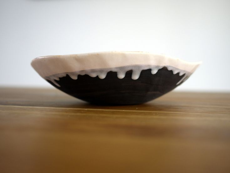 black and white ceramic bowl, gift idea by projectorium.pl