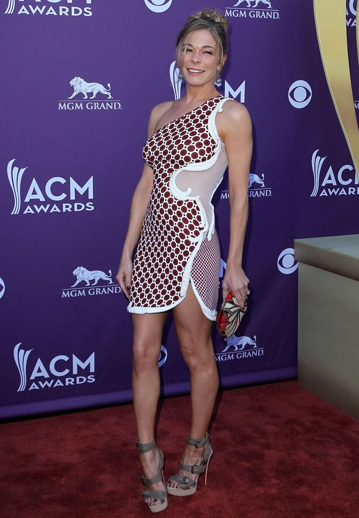 LeAnn Rimes hits the red carpet at the 2012 Academy Of Country Music Awards held at the MGM Grand Garden Arena in Las Vegas on April 1, 2012