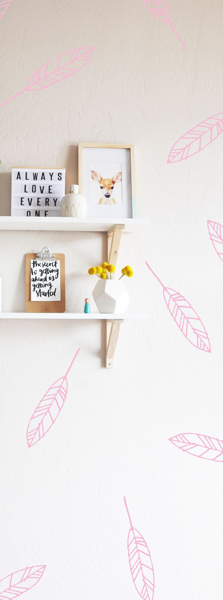 Open Feathers Decal - WALL DECAL – The Lovely Wall Company