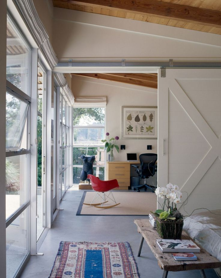 Barn Doors Used To Divide Large Spaces   Trendir