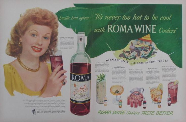 Lucille ball for roma wines in lodi ca remember when