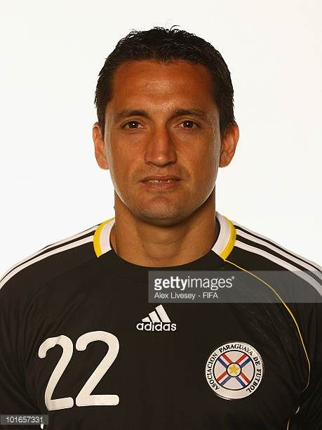 Aldo Bobadilla of Paraguay poses during the official FIFA World Cup 2010 portrait session on June 5 2010 in Durban South Africa