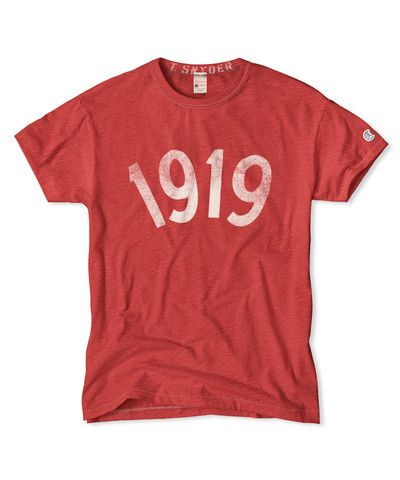 Faded Red 1919 Graphic Crew T-Shirt