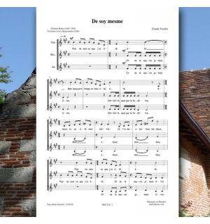 Clément MAROT / Claude VERCHER : De soy mesme - pour 3 voix égales - Editions Musiques en Flandres - référence : MeF 218