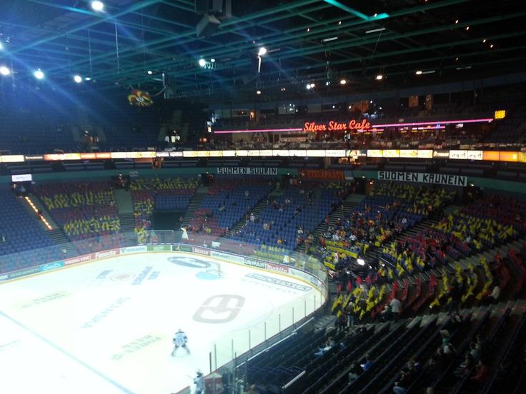 Season start 2012. The fans preparing for an enormous tifo.