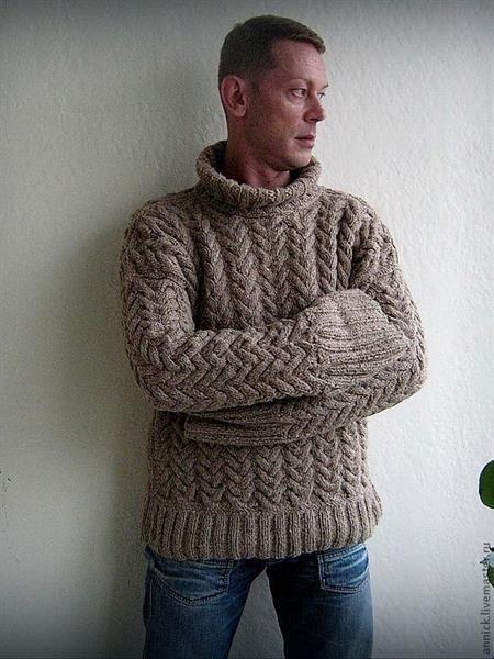 Коллекции вязаных мужских свитеров