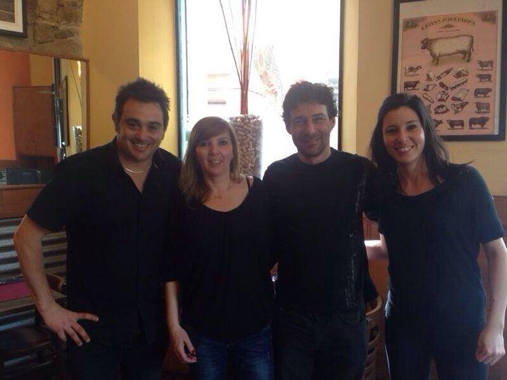 Otra visita: Roberto Drago, Luciano Bertollini en La Chacha