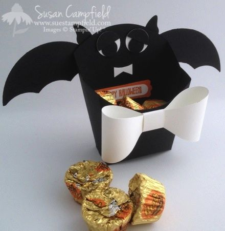 batty for halloween fry box - Scary Halloween Crafts