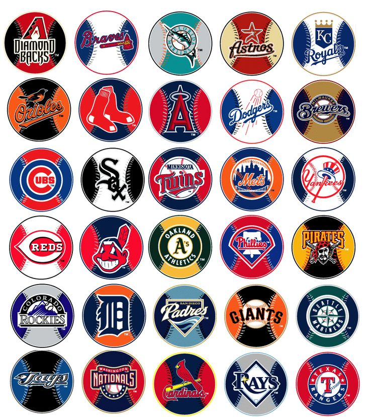 major league baseball logo | MLB Major League Baseball Prismatic Stickers