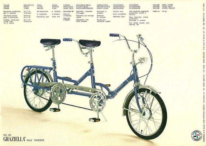 Bicicletta Graziella 1964 Tandem Bikes Bicicletta