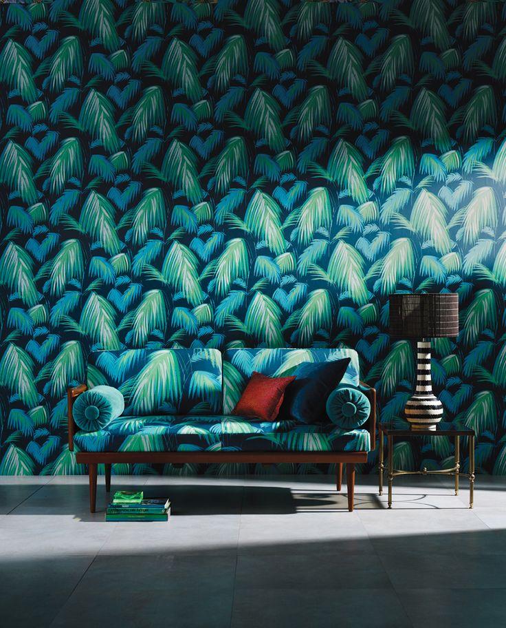 Matthew Williamson Cubana Collection – Tropicana wallpaper in 01 and matching Seneca Textiles upholstery