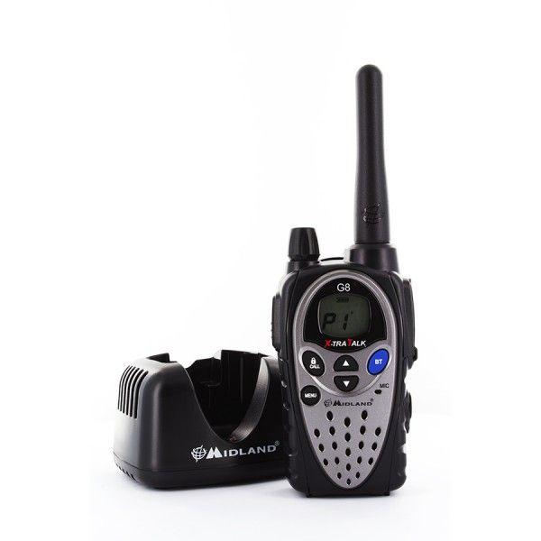 MIDLAND G8E BT  UTF - Walkie-talkie con Bluetooth, incorpora tres innovaciones únicas.  http://tesycom.es/descripcion.php?id_product=498&start=0&strmarques=10,12,9,11,13&strcateg=16