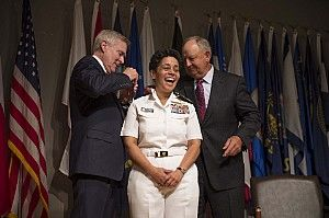 Michelle J. Howard is a US Navy 4 star admiral who currently serves as the 38th Vice Chief of Naval Operations. Earlier she served as the Deputy Chief of Naval Operations for Operations, Plans and Strategy. She was the first Black woman to achieve three star rank & four star rank in the U.S. Armed Forces as well as being the first woman & African-American woman to achieve the rank of admiral in the Navy. She was the first African-American woman to command a U.S. Navy ship, the USS Rushmore.