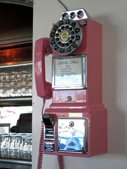 Rotary Dial Phone at Pops Diner / Hendersonville, NC by steveartist, via Flickr