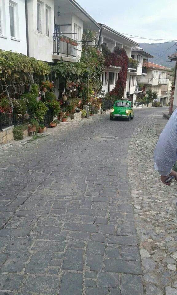 Ohrid streets in Macedonia