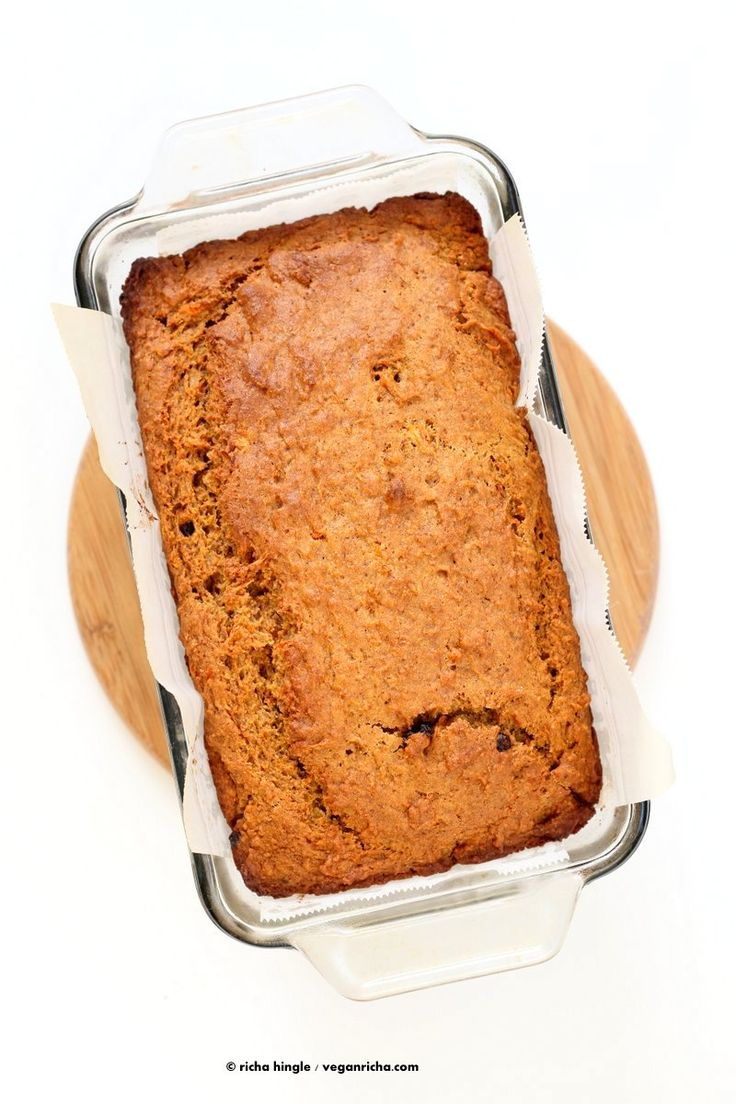 Vegan Carrot Cake Recipe. Vegan Carrot Cake Quick bread loaf with Cashew Cream Frosting. Moist, spiced with Cinnamon and Cardamom, full of carrots. Low oil. Soyfree Palmoil-free | VeganRicha.com