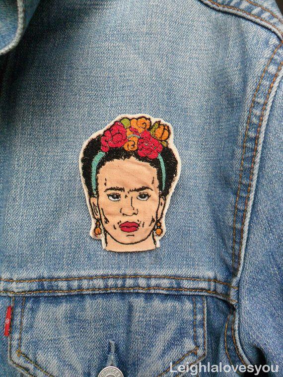 Frida Kahlo gestickt Patch/Brosche von LeighLaLovesYou auf Etsy