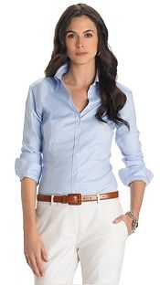 the best buttondown shirts for women light blue