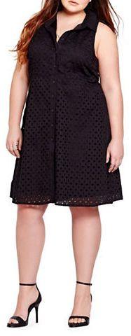 Addition Elle Sleeveless Eyelet Dress