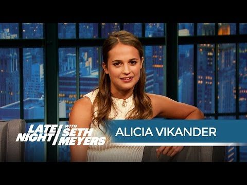 How Alicia Vikander Perfected Her Robot Voice for Ex Machina - Late Night with Seth Meyers - YouTube