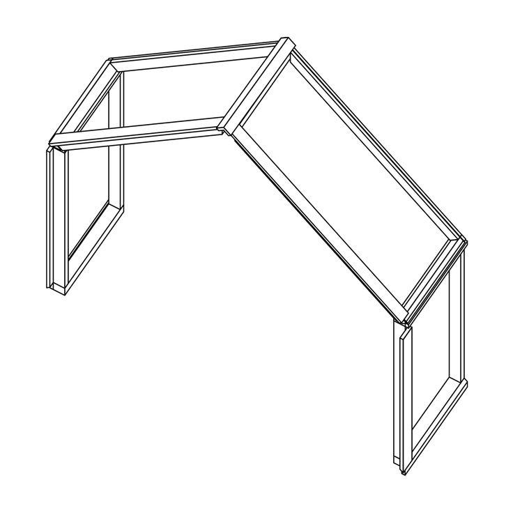Veg&Able-kasvihuoneen lisämoduuli. Lisämoduulilla saat lisää pituutta kasvihuoneeseesi. Sisältää 2 x seinäosa ja 2 x katto-osa.