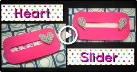 Wie man Herz Slider Karte zum Valentinstag, Freund, Jubiläum machen | Explosionsbox   – Hairstyles & Nails // DIY ♥