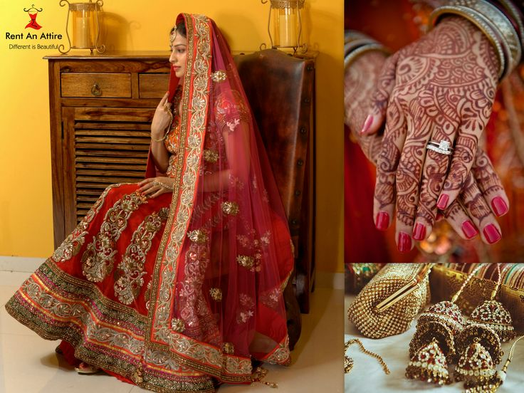 ‪#‎IndianBridalDiaries‬  The Indian weddings are all about beautiful clothes, loads of jewelry and celebration. The traditional rasams are simply never ending. Indian Bridal wears are oozing with grandeur and elegance. Be one of the most gorgeous royal bride of this season wearing this Couture Bridal Lehenga (First Copy) by the Ace Designer Anamika Khanna.. ‪#‎RentAnAttire‬