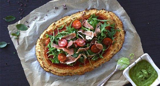 Paleo květáková pizza