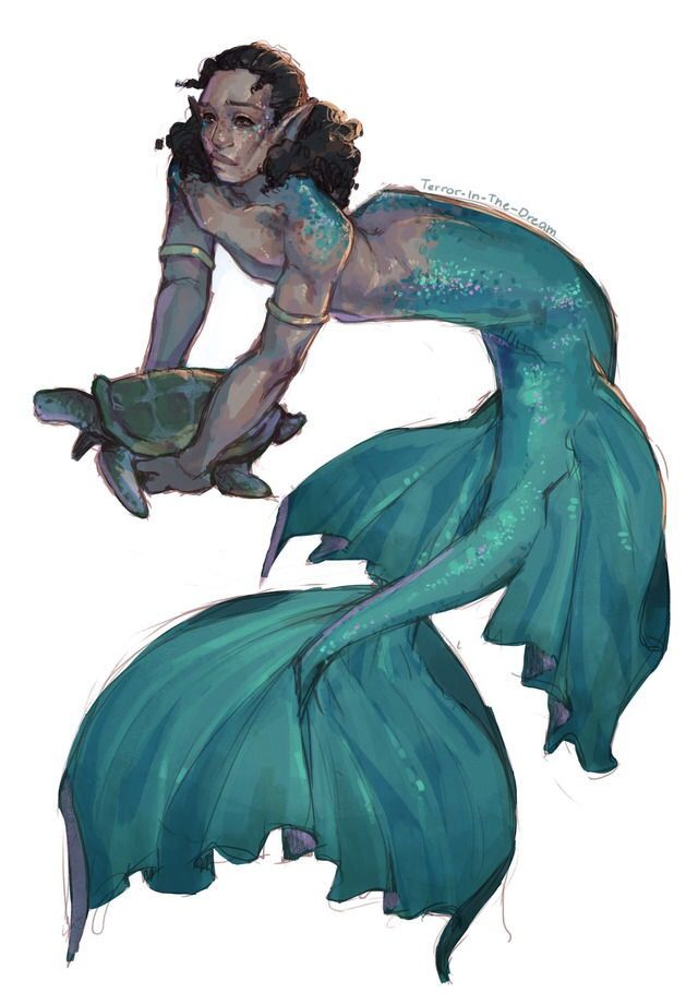 insert gif of harrison ford saying 'baby boy. baby.' here (also sorry but this is NOT canon because merman john would OBVIOUSLY have a seaweed binder smh.....)