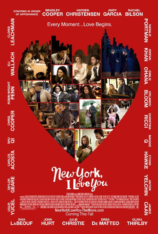 one of my top favs New York, I Love You: Film, 2009, I Love You, Movie Poster, Movies Poster, New York, I'M, Watches, Newyork