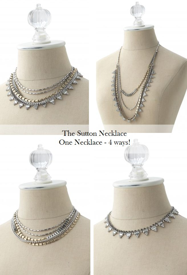 Stella and Dot the Sutton Necklace so versatile and a nice statement piece! www.stelladot.com/denisebranson