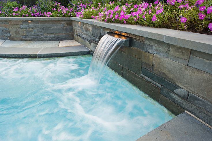 17 best images about swimming pool water fall feature on for Pool design water feature