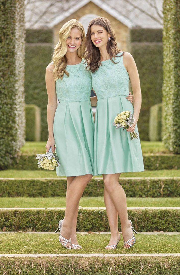 40 best green bridesmaid dresses images on pinterest clothes mint green bridesmaid dress flower lace overlay on the bodice knee length skirt ombrellifo Choice Image