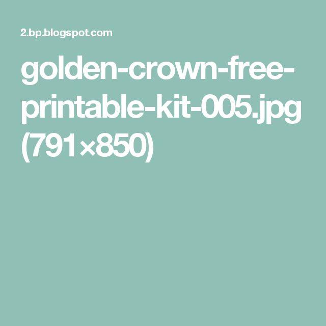 golden-crown-free-printable-kit-005.jpg (791×850)