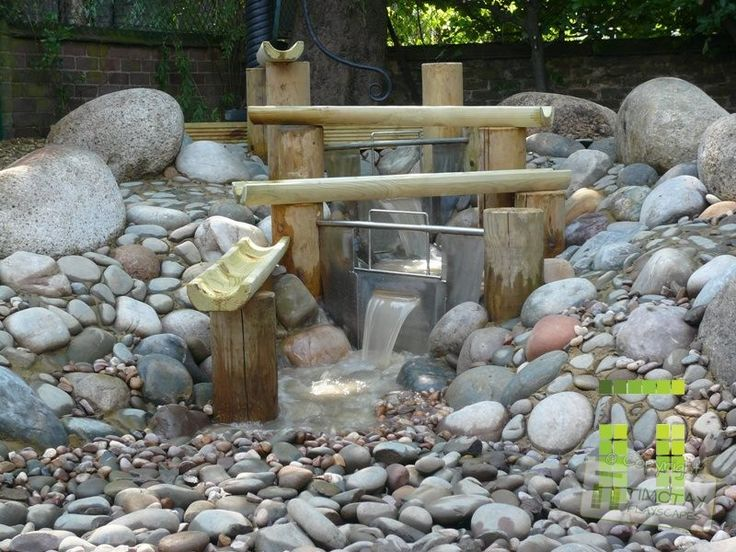 This inspirational water play feature adds a natural feel to a garden with a great deal of interactive elements. Children can dam the stream, mov...