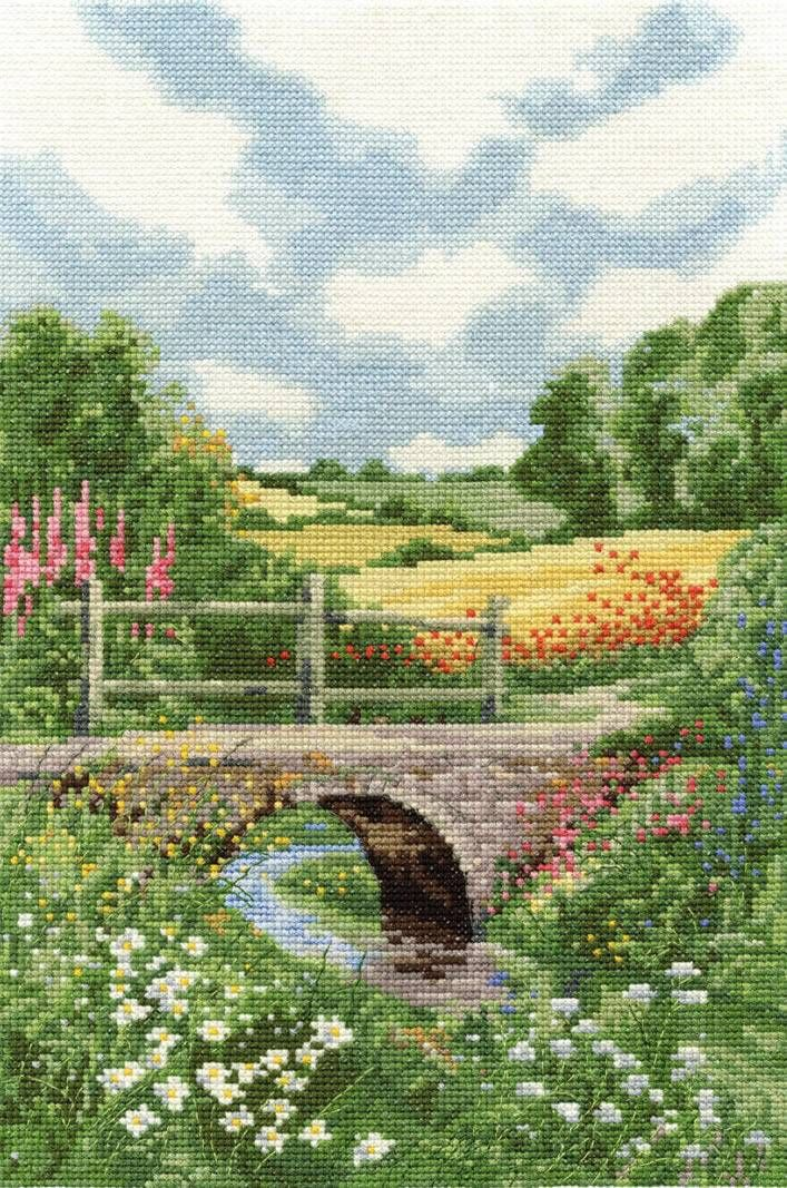As picturesque and perfectly designed as any other scenic pattern from DMC, this summer meadow cross stitch kit is bathed in sunlit detail and careful...