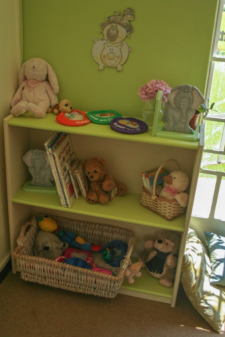Close up of our reading corner