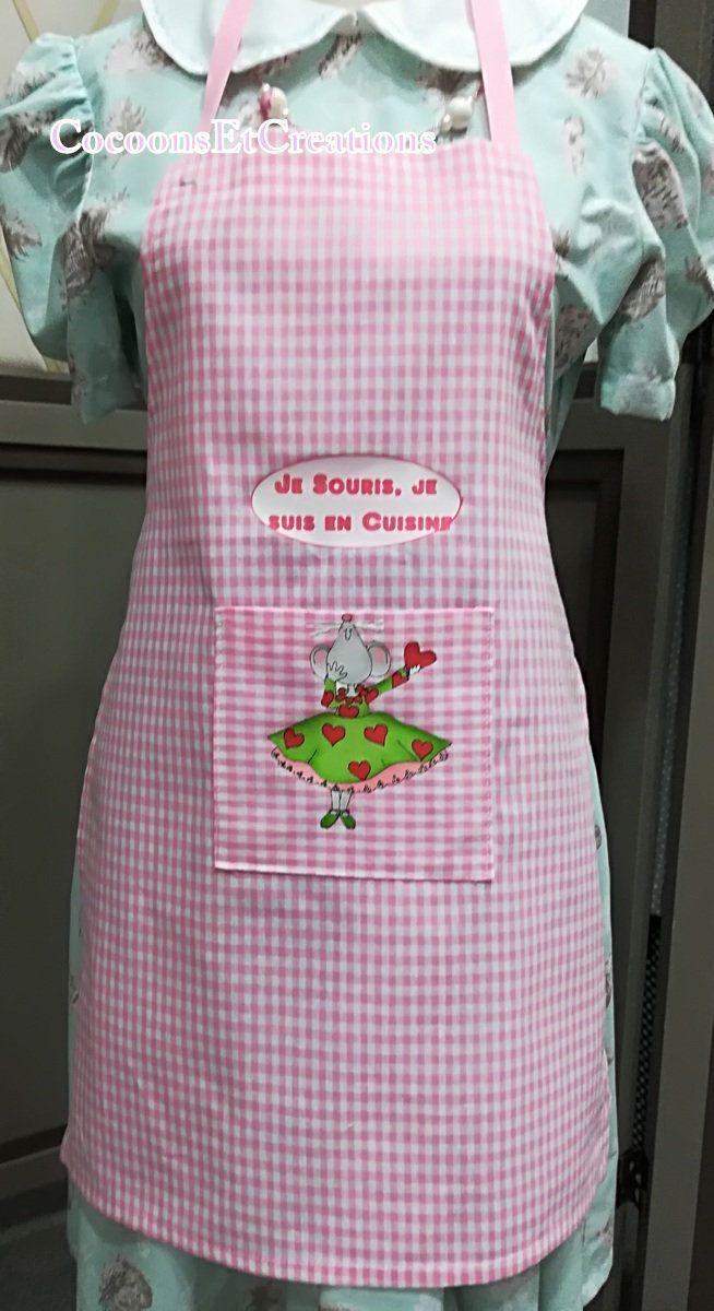Apron Child Fancy Humor I Souris I M In Cuisine Tablier Enfant Tablier Et Souris