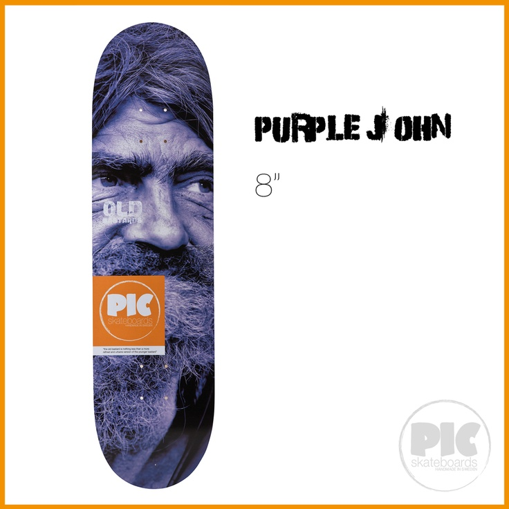"PIC Skateboards - Purple John 8"" via PIC Skateboards."
