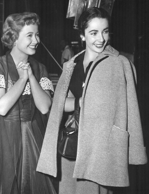 Jane Powell and Elizabeth Taylor