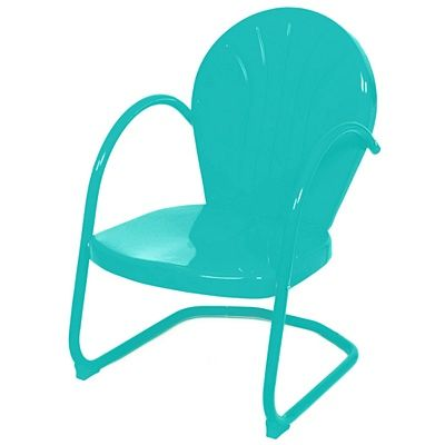 Turquoise Metal Tulip Chair | Everything Turquoise