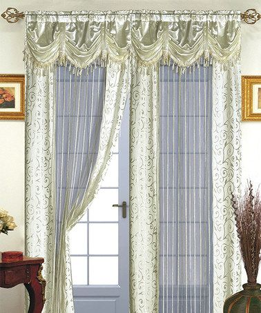 Loving this Ivory Tango Curtain Panel and Valance on #zulily! #zulilyfinds